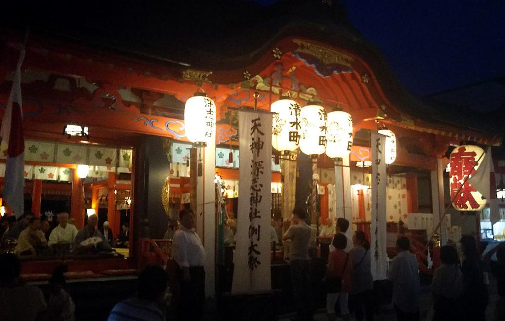 松本深志神社の天神祭り